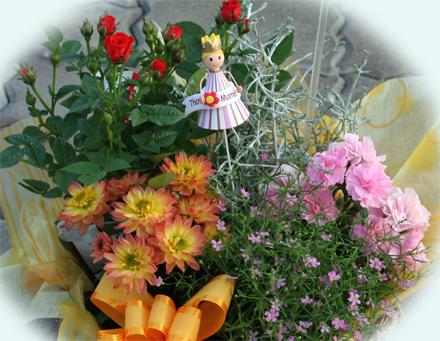 カスミ草ジプシーの花かごセット