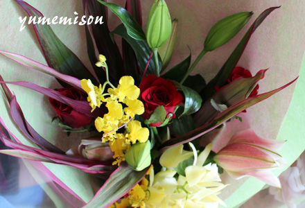 顧問の先生の花束