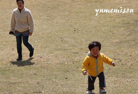 走り回る孫達