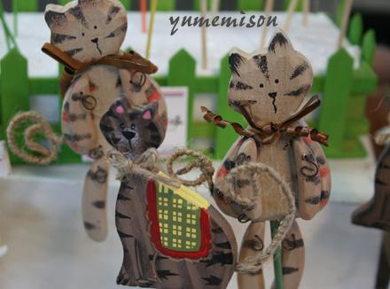 木製の猫のピック