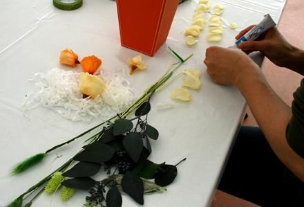 フラワーアレンジの材料2