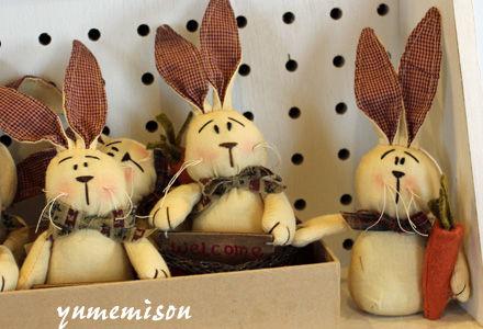 ウサギのマスコット
