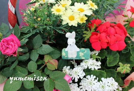 お祝いの花かごセット