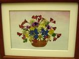 柏野さんの押し花作品