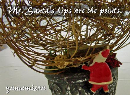 サンタさんのお尻が、正面です!