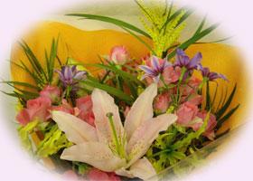 カサブランカが香る花束