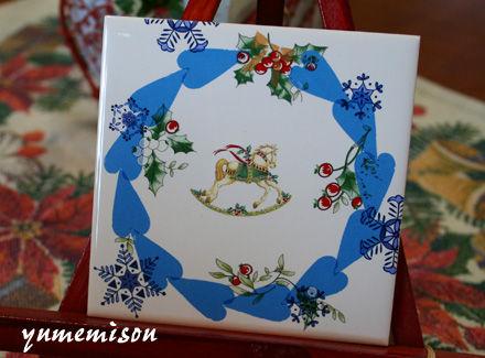 クリスマスの陶板