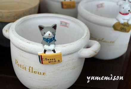 ネコの鉢カバー