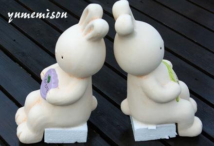ウサギのガーデンドール 横向き