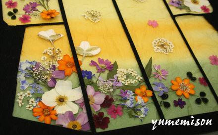 押し花の着物2