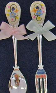 スプーンとフォークの押し花
