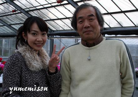 福島彩乃アナウンサーと技術の清水さん