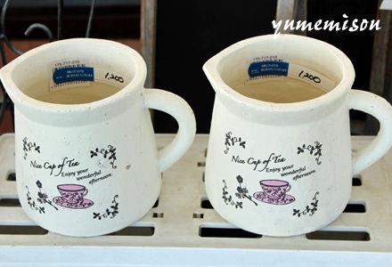ピッチャー型の陶器鉢