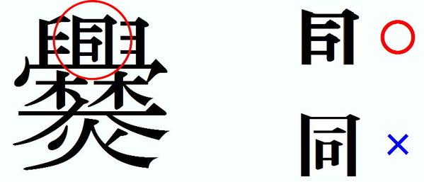 正解は 「飯盒炊爨」であるわけですが、最後の「爨」の字は何とも複雑怪奇な漢字です。 ところで、こ