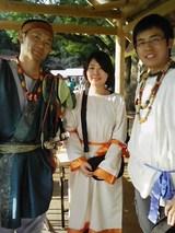 ニニギノミコトと観光協会岩切さんと