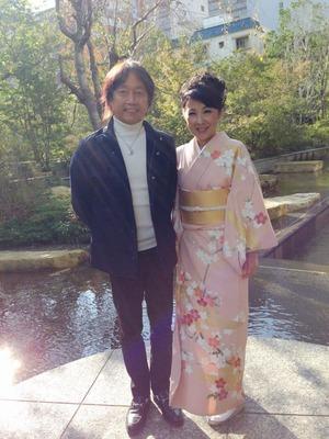 森田健さん 着物で