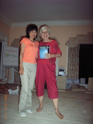 Rosie and Miyoko in the living room