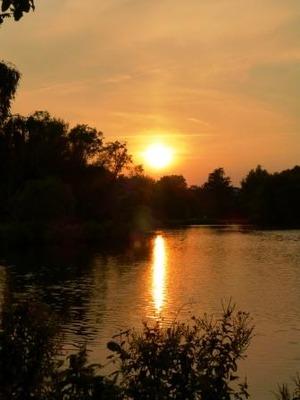 Denmark sunset lakeside 2012 aug