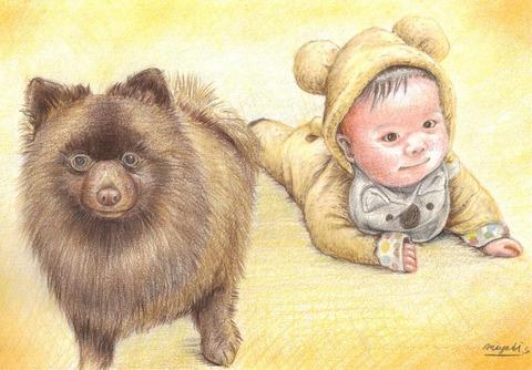 チョコポメさんと赤ちゃん
