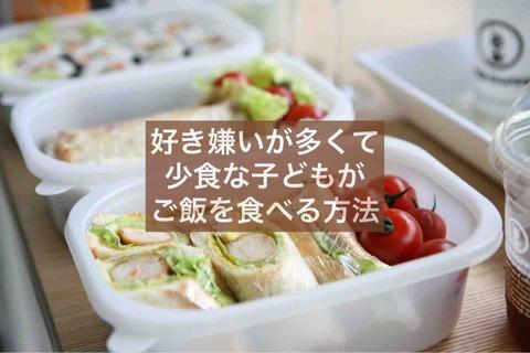 好き嫌いが多くて少食な子どもがご飯を食べるようになる方法【4選】