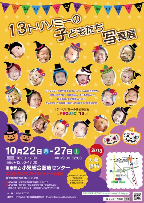 第3回13トリソミーの子どもたち写真展ポスター