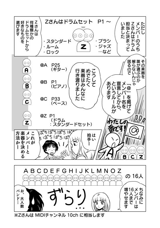 漫画 マンガ DTM MIDI 打ち込み 音楽ソフト Muse 漫画 マンガ 講座