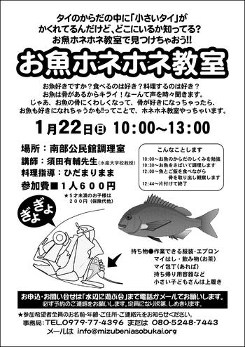 お魚ホネホネ教室 [更新済み]