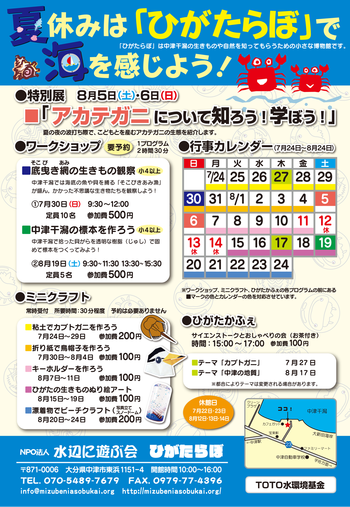 夏休み干潟観察会ura