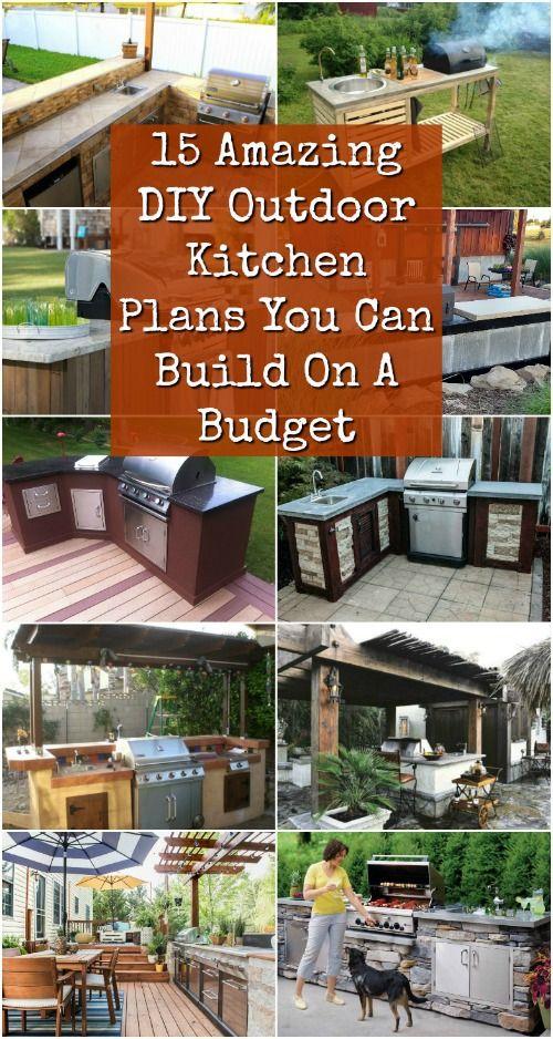 15 Kế hoạch nhà bếp ngoài trời DIY tuyệt vời bạn có thể xây dựng dựa trên ngân sách