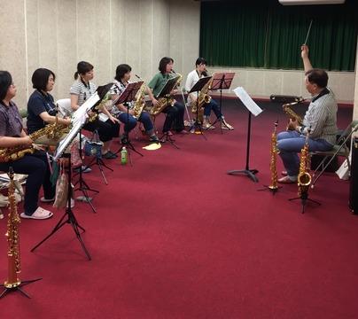 Saxパート練習