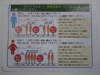 献血スケジュール