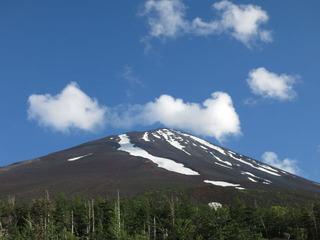 雲がはれて山頂があらわに