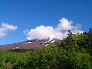 富士山雲隠れ