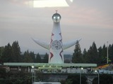 29万博公園駅付近からの太陽の塔