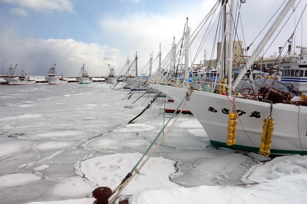 海もクルマも凍りつく : 燃えるゴミは明日