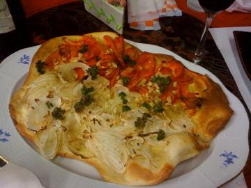 スペイン風野菜のピザ