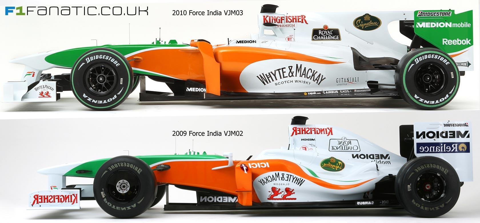 フォース・インディア VJM03とVJ...