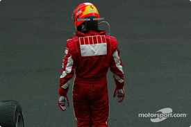 佐藤琢磨、ミハエル・シューマッハ、2005年F1ベルギーGP