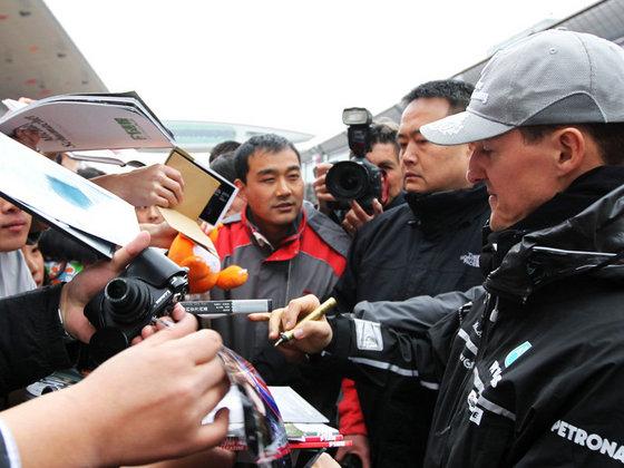 ミハエル・シューマッハ、F1中国GP