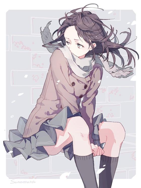 黒髪の二次元美少女のちょいエロ画像ください16