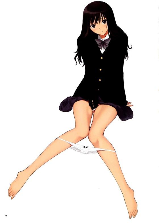 制服を着た二次元美少女の微エロ画像ください08