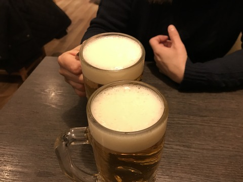 串カツ屋さんで一杯^^