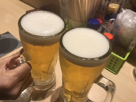 相方さんと軽く一杯^^