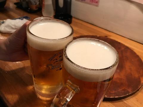 焼肉とビールとお泊まり!