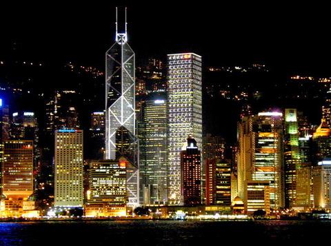 香港ヴィクトリアハーバー夜景