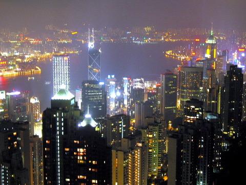 香港ヴィクトリアパーク夜景