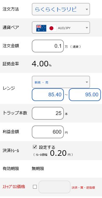 豪ドル円売り85~95