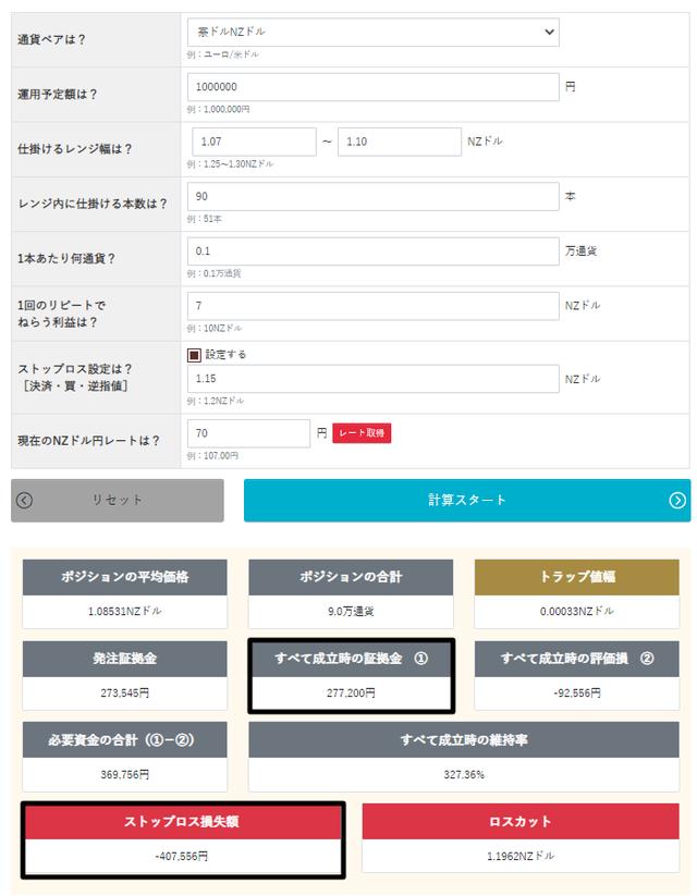 トラリピ運用試算表_売りコア