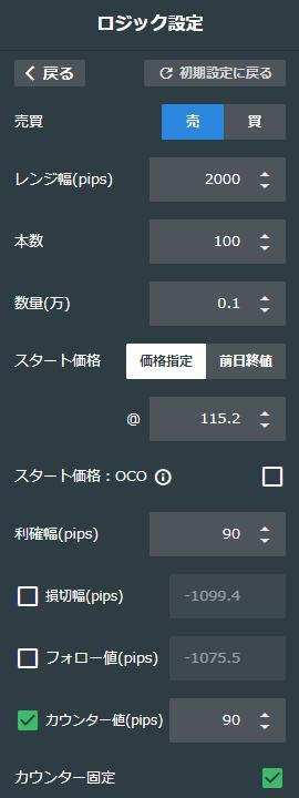 ドル/円売り115-135