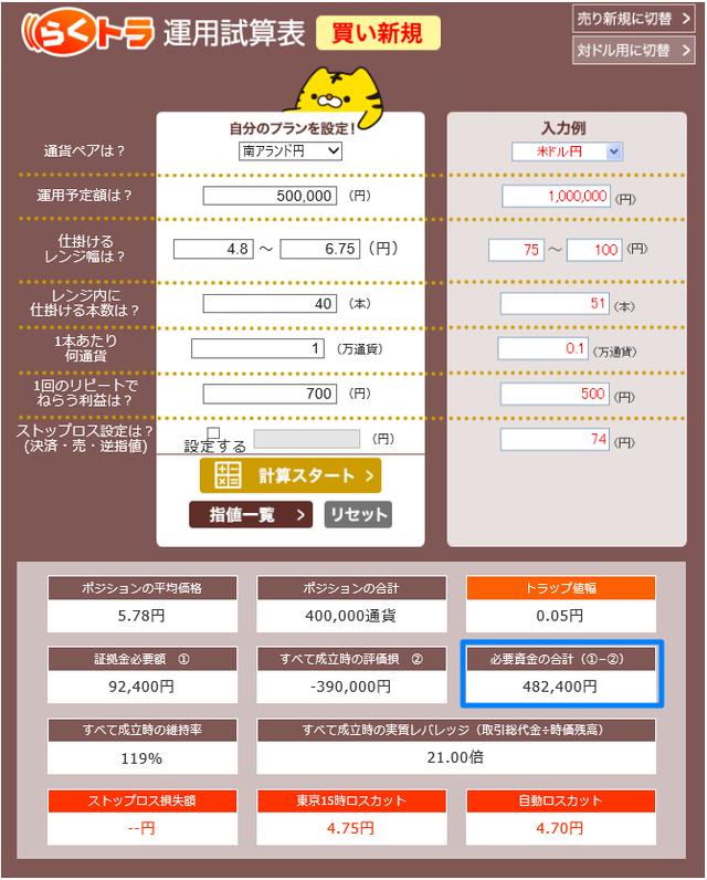 メキシコペソ円の設定(5銭間隔)